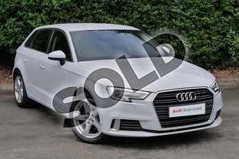 Audi A3 Diesel 30 TDI 116 Sport 5dr S Tronic in Glacier White Metallic at Worcester Audi