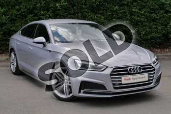 Audi A5 Diesel 35 TDI S Line 5dr S Tronic in Floret Silver Metallic at Worcester Audi