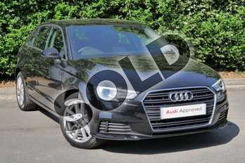 Audi A3 Diesel 30 TDI 116 SE Technik 5dr S Tronic in Myth Black Metallic at Worcester Audi