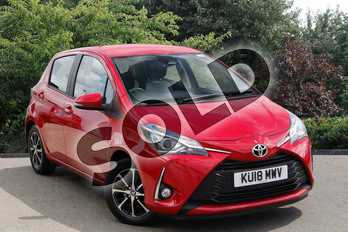 Toyota Yaris 1.5 VVT-i Icon Tech 5dr in Red at Listers Toyota Nuneaton