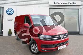 Volkswagen Transporter T28 SWB Diesel 2.0 TDI BMT 150 Highline Van in Cherry Red at Listers Volkswagen Van Centre Coventry