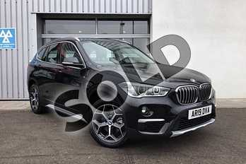 BMW X1 sDrive 18i xLine 5dr in Black Sapphire metallic paint at Listers King's Lynn (BMW)