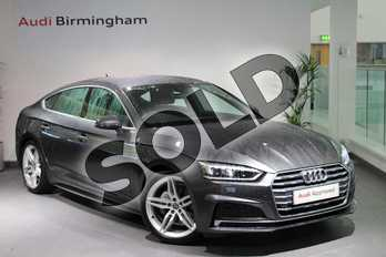 Audi A5 40 TDI S Line 5dr S Tronic in Daytona Grey Pearlescent at Birmingham Audi