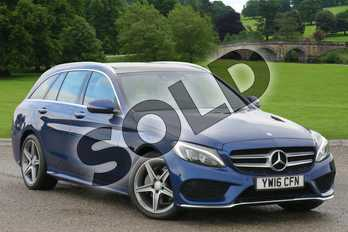 Mercedes-Benz C Class Diesel C220d AMG Line Premium 5dr Auto in Brilliant Blue Metallic at Mercedes-Benz of Hull