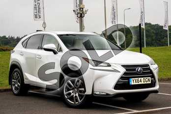 Lexus NX 300h 2.5 Luxury 5dr CVT in Sonic White at Lexus Lincoln
