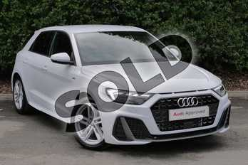 Audi A1 35 TFSI S Line 5dr in Glacier White Metallic at Worcester Audi