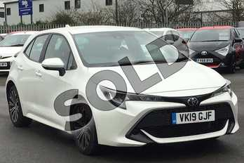 Toyota Corolla 1.2T VVT-i Icon Tech 5dr in Pearl White at Listers Toyota Cheltenham