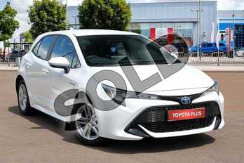 Toyota Corolla 1.8 VVT-i Hybrid Icon Tech 5dr CVT in Pure White at Listers Toyota Cheltenham