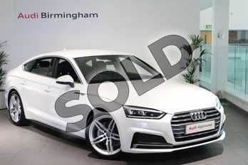 Audi A5 Diesel 40 TDI S Line 5dr S Tronic in Ibis White at Birmingham Audi