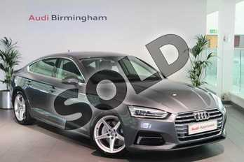 Audi A5 Diesel 40 TDI Sport 5dr S Tronic in Monsoon Grey Metallic at Birmingham Audi