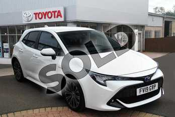 Toyota Corolla 2.0 VVT-i Hybrid Design 5dr CVT in Pure White at Listers Toyota Grantham