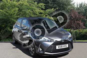 Toyota Yaris 1.5 VVT-i Icon Tech 5dr in Grey at Listers Toyota Stratford-upon-Avon