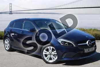 Mercedes-Benz A Class Diesel A200d Sport Premium 5dr Auto in Cavansite blue Metallic at Mercedes-Benz of Hull