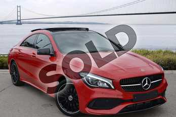 Mercedes-Benz CLA Class CLA 200 AMG Line Night Edition Plus 4dr Tip Auto in jupiter red at Mercedes-Benz of Hull