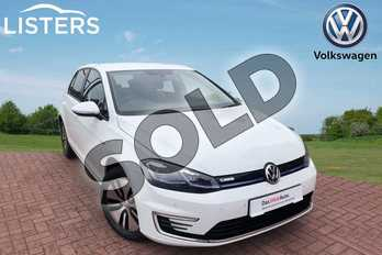 Volkswagen Golf 99kW e-Golf 35kWh 5dr Auto in Pure white at Listers Volkswagen Worcester