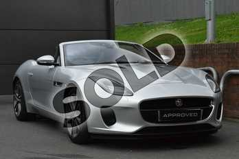 Jaguar F-TYPE Convertible 3.0 Supercharged V6 2dr Auto in Indus Silver at Listers Jaguar Droitwich