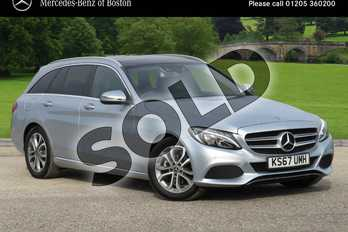 Mercedes-Benz C Class Diesel C200d Sport Premium 5dr Auto in Diamond Silver Metallic at Mercedes-Benz of Hull