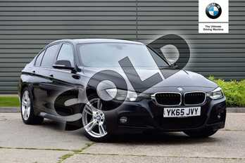 BMW 3 Series Diesel 320d M Sport 4dr Step Auto in Black Sapphire metallic paint at Listers Boston (BMW)