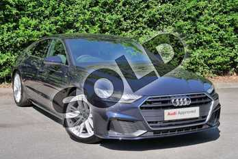 Audi A7 Diesel 50 TDI Quattro S Line 5dr Tip Auto in Firmament Blue Metallic at Worcester Audi