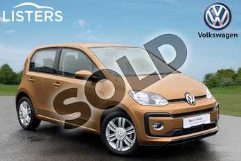 Volkswagen Up 1.0 90PS High Up 5dr (Start Stop) in Savanna Gold at Listers Volkswagen Coventry