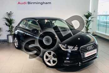 Audi A1 1.0 TFSI Sport 3dr in Brilliant Black at Birmingham Audi