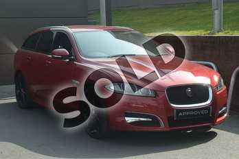 Jaguar XF Diesel Sportbrake 2.2d (200) R-Sport 5dr Auto in Italian Racing Red at Listers Jaguar Droitwich