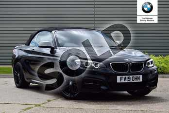 BMW 2 Series Convertible M240i 2dr (Nav) Step Auto in Black Sapphire metallic paint at Listers Boston (BMW)