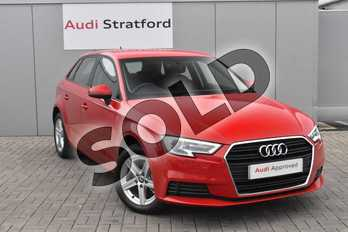 Audi A3 Diesel 30 TDI 116 SE Technik 5dr S Tronic in Tango Red Metallic at Stratford Audi