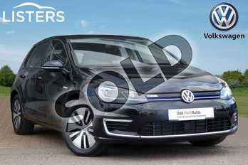 Volkswagen Golf 99kW e-Golf 35kWh 5dr Auto in Deep Black at Listers Volkswagen Loughborough