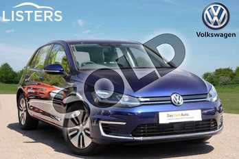 Volkswagen Golf 99kW e-Golf 35kWh 5dr Auto in Atlantic Blue at Listers Volkswagen Leamington Spa