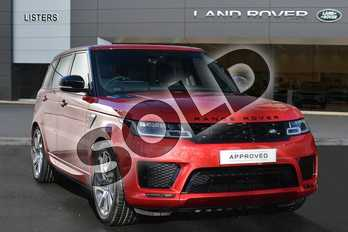 Range Rover Sport Diesel 3.0 SDV6 Autobiography Dynamic 5dr Auto in Firenze Red at Listers Land Rover Droitwich