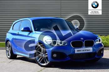BMW 1 Series 118i M Sport 3-door in Estoril Blue at Listers Boston (BMW)