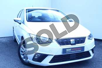 SEAT Ibiza 1.0 TSI 95 SE 5dr in White at Listers SEAT Worcester