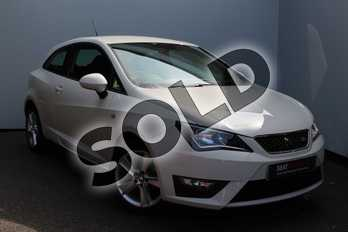 SEAT Ibiza Sport 1.2 TSI 90 FR Technology 3dr in White at Listers SEAT Worcester