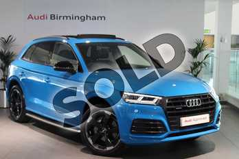 Audi Q5 Diesel 40 TDI Quattro Black Edition 5dr S Tronic in Turbo Blue at Birmingham Audi