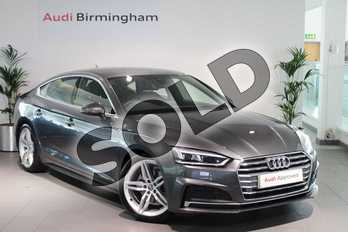 Audi A5 Diesel 35 TDI S Line 5dr S Tronic in Daytona Grey Pearlescent at Birmingham Audi