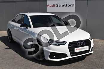 Audi A4 40 TDI Quattro Black Edition 4dr S Tronic in Ibis White at Stratford Audi