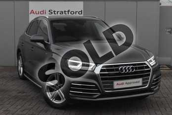 Audi Q5 S line 40 TDI quattro 190 PS S tronic in Daytona Grey Pearlescent at Stratford Audi