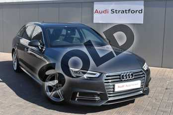 Audi A4 2.0T FSI S Line 5dr S Tronic in Daytona Grey Pearlescent at Stratford Audi
