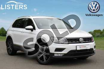 Volkswagen Tiguan Diesel 2.0 TDI 150 SE Nav 5dr in Pure white at Listers Volkswagen Coventry