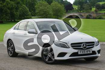 Mercedes-Benz C Class C200 Sport Premium 4dr 9G-Tronic in Polar White at Mercedes-Benz of Boston