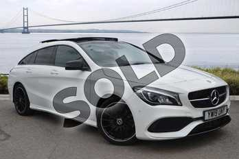Mercedes-Benz CLA Class CLA 220 AMG Line Night Ed Plus 4Matic 5dr Tip Auto in Polar White at Mercedes-Benz of Hull