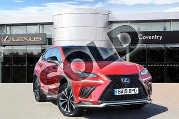 Lexus NX 300h 2.5 F-Sport 5dr CVT (Takumi Pack/Panroof) in Mesa Red at Lexus Coventry