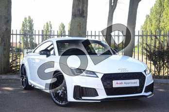 Audi TT 45 TFSI Black Edition 2dr S Tronic in Ibis White at Coventry Audi