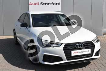 Audi A4 40 TDI Quattro Black Edition 4dr S Tronic in Glacier White Metallic at Coventry Audi