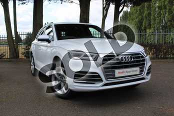 Audi Q5 Diesel 40 TDI Quattro S Line 5dr S Tronic in Glacier White Metallic at Coventry Audi