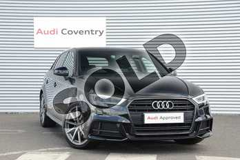 Audi A3 Diesel 30 TDI 116 Black Edition 5dr in Myth Black Metallic at Coventry Audi