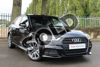 Audi A3 Diesel 30 TDI 116 Black Edition 5dr in Brilliant Black at Coventry Audi