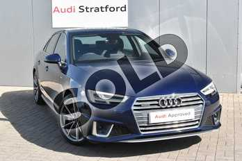 Audi A4 40 TDI Quattro S Line 4dr S Tronic in Navarra Blue Metallic at Coventry Audi