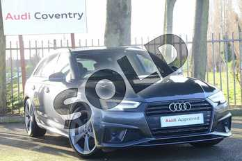 Audi A4 40 TDI Black Edition 5dr S Tronic in Daytona Grey Pearlescent at Coventry Audi